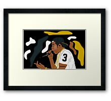 Jay Z- The Performance Framed Print