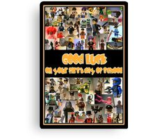 Good Luck on your First Day of School Greeting Card a Montage of Custom Minifigs Canvas Print