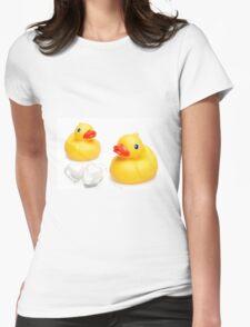 Love Ducks Womens Fitted T-Shirt