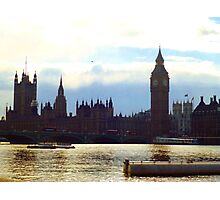 Palace of Westminster and Westminster Bridge - London Photographic Print