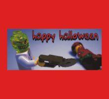 """Happy Halloween"" Custom Halloween Dr Toxic Minifigure Kids Clothes"
