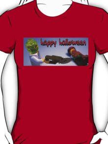"""Happy Halloween"" Custom Halloween Dr Toxic Minifigure T-Shirt"