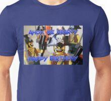 """Happy Birthday"" Pirate Captain Birthday Greeting Card Unisex T-Shirt"
