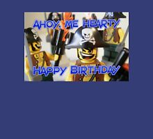 """Happy Birthday"" Pirate Captain Birthday Greeting Card T-Shirt"