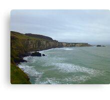 Cliffs on the Northern Irish Coast Canvas Print