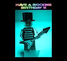 """Have a Rocking Birthday"" Custom Emo Guitarist Birthday Greeting Card by Chillee"