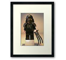 TMNT Teenage Mutant Ninja Turtles, Master Shredder Custom Minifig Framed Print