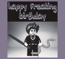"""Happy Freaking Birthday"" Custom Evil Magician Birthday Greeting Card Kids Clothes"