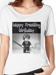 """""""Happy Freaking Birthday"""" Custom Evil Magician Birthday Greeting Card Women's Relaxed Fit T-Shirt"""