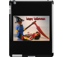 """Happy Halloween"" Custom Halloween Scarecrow Minifig iPad Case/Skin"