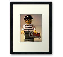 Convict Prisoner City Minifigure with Dynamite Tile Framed Print