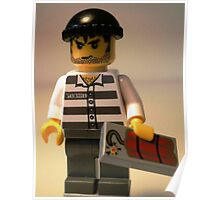 Convict Prisoner City Minifigure with Dynamite Tile Poster