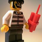 Convict Prisoner City Minifigure with Dynamite Sticks, 'Customize My Minifig' by Chillee