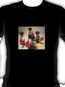 Convict Prisoner City Minifigure with Dynamite Sticks T-Shirt