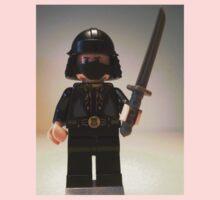 Black Japanese Samurai Warrior Minifigure / TMNT Shredder Custom Minifig Kids Tee