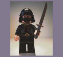 Black Japanese Samurai Warrior Minifigure / TMNT Shredder Custom Minifig Kids Clothes