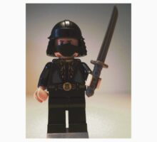 Black Japanese Samurai Warrior Minifigure / TMNT Shredder Custom Minifig by Chillee