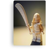 Ching Dynasty White Ghost Warrior Statue Custom Minifig Canvas Print