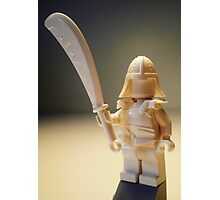 Ching Dynasty White Ghost Warrior Statue Custom Minifig Photographic Print