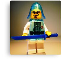 Ching Dynasty Chinese Warrior Custom Minifig Canvas Print
