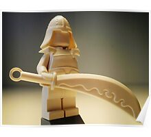 Ching Dynasty White Ghost Warrior Statue Custom Minifig Poster