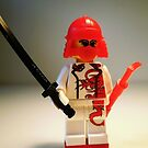 Red Dragon Japanese Samurai Warrior Custom Minifig by Chillee