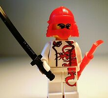 Red Dragon Japanese Samurai Warrior Custom Minifig by Customize My Minifig
