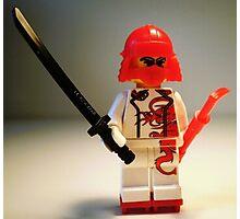 Red Dragon Japanese Samurai Warrior Custom Minifig Photographic Print