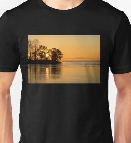 Golden Sunrise Glide With a Bit of Breeze Unisex T-Shirt