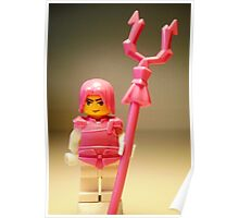 Pink Chinese Hero Warrior Custom Minifig Poster