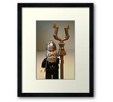 Mongolian Warrior Chief Custom Minifig Framed Print