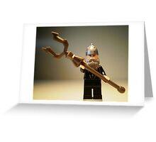Mongolian Warrior Chief Custom Minifigure Greeting Card