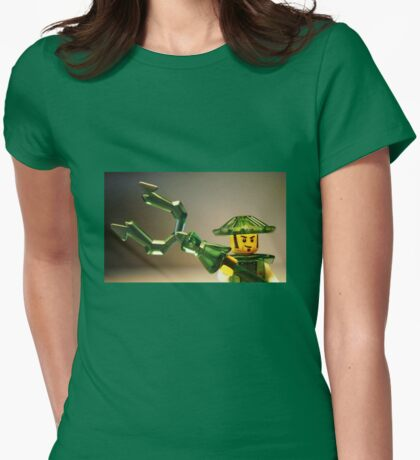 Ching Dynasty Chinese Warrior Custom Minifigure Womens Fitted T-Shirt