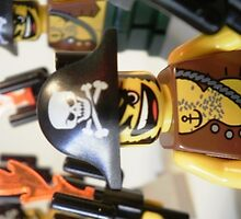 Pirate Captain Minifigure with Flame Torch, by 'Customize My Minifig' by Chillee
