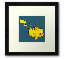 Pixel Pikachu Framed Print