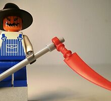 Halloween Scarecrow with Scythe, Custom Minifig by Customize My Minifig
