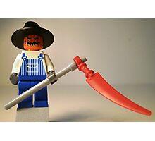 Halloween Scarecrow with Scythe, Custom Minifig Photographic Print