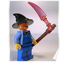 Scary Halloween Scarecrow Custom Minifigure Poster