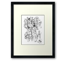 LINE : 100 <Inspiration from House.> Framed Print