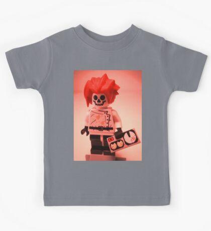 Professor Boom Custom Minifigure with Bomb Kids Tee