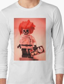 Professor Boom Custom Minifigure with Bomb Long Sleeve T-Shirt