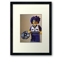 DJ Clubbing Tru Son of Disco Stu Custom Minifigure with CD Framed Print