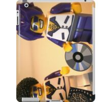 DJ Clubbing Tru and his Dad Disco Stu (with CD and Record) Minifigs, by 'Customize My Minifig' iPad Case/Skin