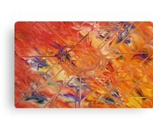 abstract art blue green red Canvas Print