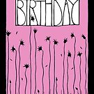 Pink Happy Birthday by mrana