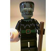 Frankensteins Monster Custom Minifigure with Skull Photographic Print