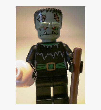 Frankensteins Monster Custom Minifigure with Skull Photographic Print