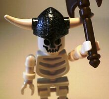 White Skeleton Viking and Custom Axe, Custom Minifigure by Chillee