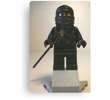 Black Ninja Custom Minifigure Canvas Print