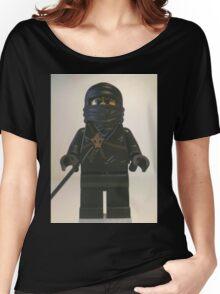 Black Ninja Custom Minifigure Women's Relaxed Fit T-Shirt